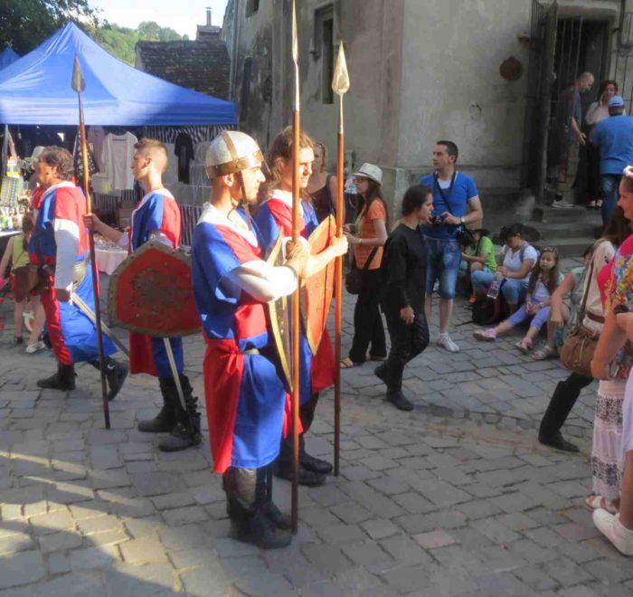 Mediavel-Street Show In Sighisoara Guards