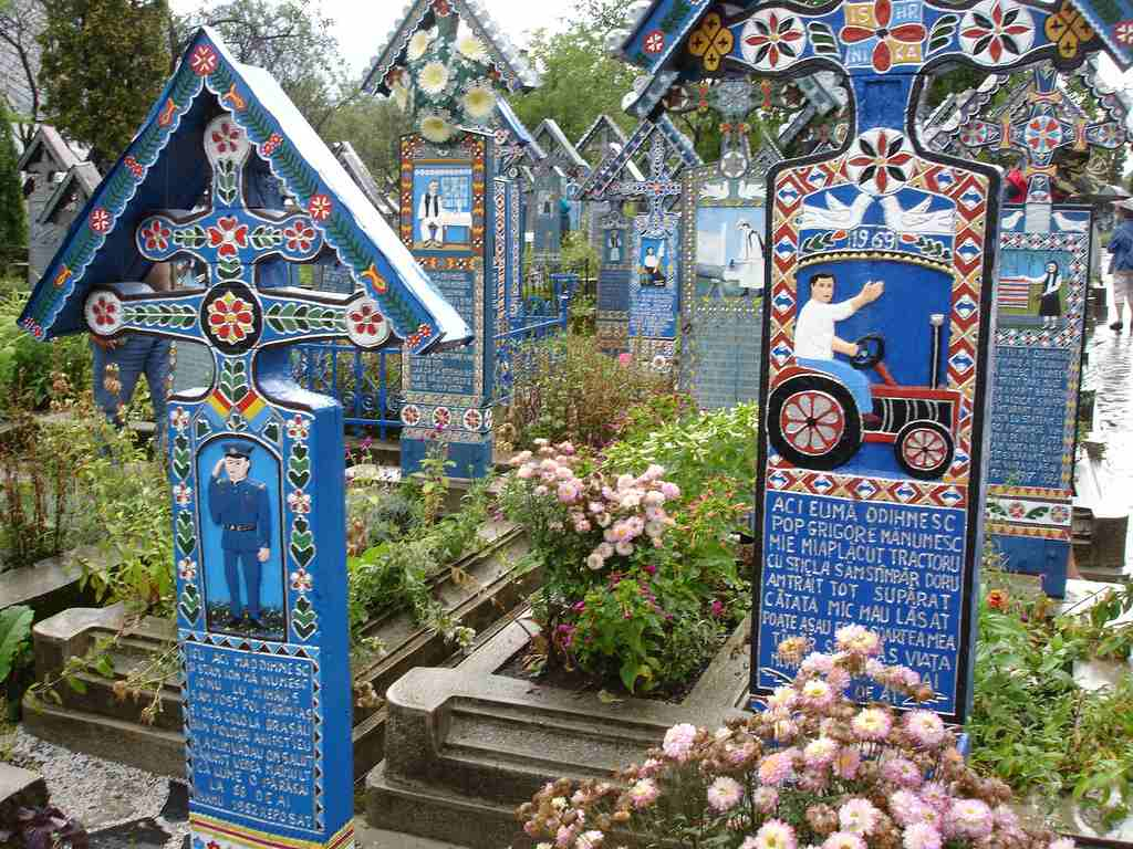 The Merry Cemetery in the village of Săpânţa