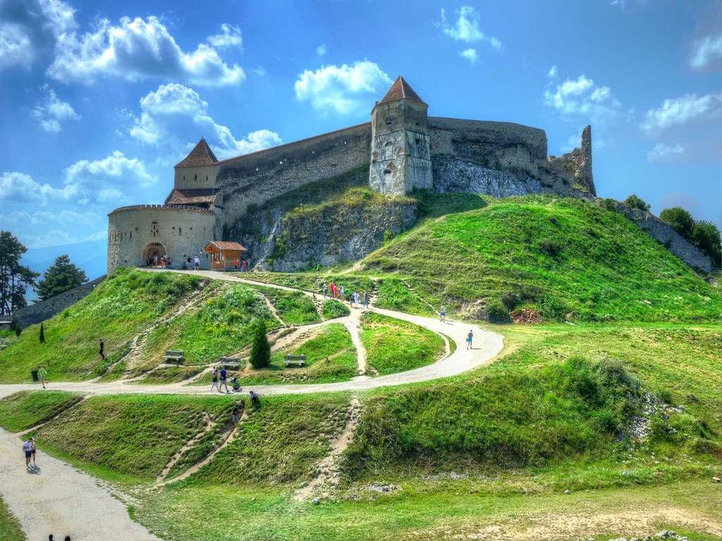 Rasnov Citadel In summer