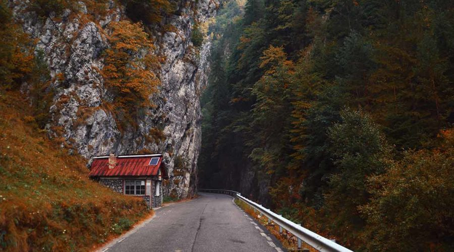 Mountain road Romania